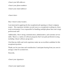 receptionist example cover letters free sample cover letter for receptionist position adriangatton