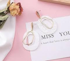 Fashion <b>Vintage</b> Hollow Geometric Women <b>Earrings Korean</b> fashion ...