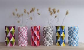 Geo Vases DIY Paper Craft By Ellen Giggenbach  Project  Home Diy Paper Home Decor