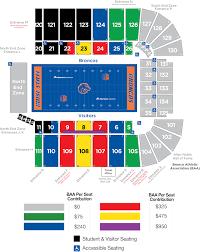 Baa Football Priority Seating Bsu Football Seating Chart