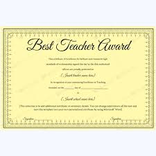 Best Teacher Award Template Best Teacher Award 06 Sdf Award Certificates Teacher Awards