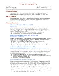 General Contractor Resume Objective Examples Best Of Personal
