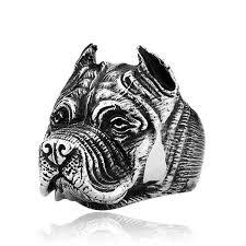 2017 <b>New Fashion</b> Mens Boys Pitbull Dog Silver <b>316L Stainless</b> ...