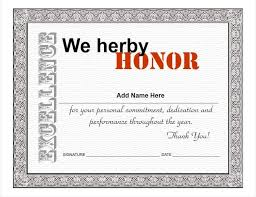 Printable Employee Of The Month Certificates Certificates Inspiring Appreciation Certificate Template
