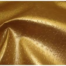 vinyl leather faux upholstery fabric ostrich metallic 54 wide gold sold bty