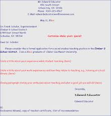 cover letter for a secondary school teaching position superintendent cover letter