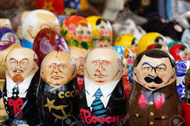 lenin and stalin russian dolls with images of lenin stalin gorbachev and putin