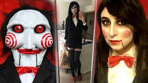 jigsaw makeup tutorial costume saw billy the puppet inspired