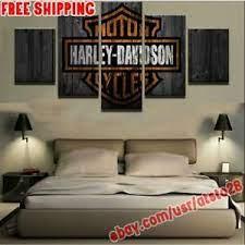 5pcs harley davidson motorcycle canvas