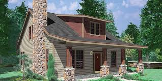 one story house plans with porch. 10122 Bungalow House Plans, Large Porch 1.5 Story One Plans With S