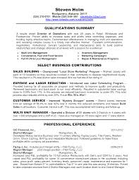 Uniter Resume Example Templates District Sales Manager Summary