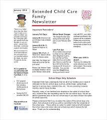Family Day Care Newsletter Template 10 Family Newsletter Templates