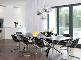 modern dining room chandelier glass