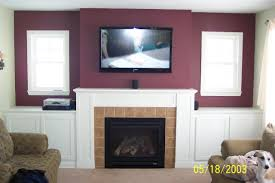 image of tv over fireplace ideas