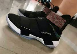 lebron shoes soldier 10 black. new images of the nike lebron zoom soldier 10 in black colorway with a multicolor upper strap and iridescent swoosh. lebron shoes
