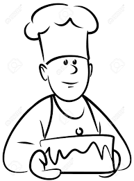 4961379 Baker With Cake Vector Stock