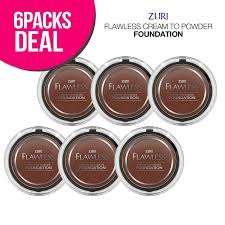 Zuri Flawless Cream To Powder Foundation Cocoa Pack Of 6