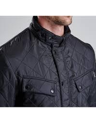 barbour mens international polarquilt jacket & Barbour International Men's Ariel Polarquilt Jacket - Black MQU0365BK91 . Adamdwight.com