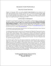 Security Officer Cover Letter Proposal Sample Proposalsampleletter