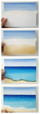 how to paint a simple beach scene with acrylics