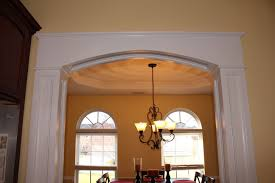 Arched Crown Moulding Arch Molding Between My Kitchen And Dining Room With Crown Molding