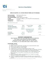 Transportation Quotation Format Sample International Shipping Quote Courageous Proforma Invoice
