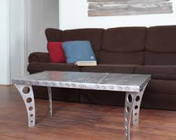 urban industrial furniture. Fine Furniture Brushed Finish JetSet Coffee Table  Aluminum  Aviator Inspired Metal Urban  Industrial Modern Designer Furniture Silver Aviation With