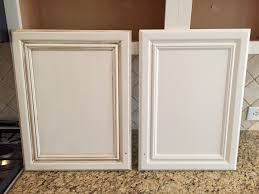 before and after glazing kitchen cabinets