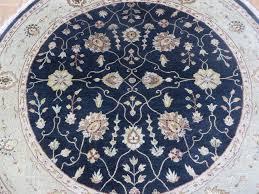 6 x 6 round handmade black persian tabriz with silk oriental rug traditional area rugs by oriental rug galaxy