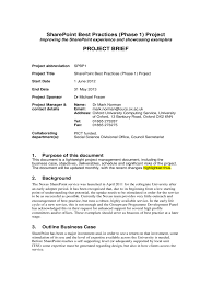 Project Brief Template Project Brief Template Kak24taktk 4