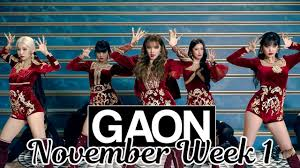 Top 50 Gaon Korean Music Chart 2019 November Week 1