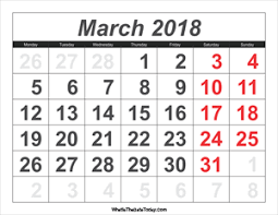 editable calendar march 2018 editable calendar march 2018 with holidays whatisthedatetoday com