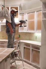painting kitchen cabinets with spray cans