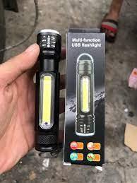 Đèn pin siêu sáng cầm tay nhật bản - Đèn pin sạc điện mini đa năng Q5L siêu  sáng kim đèn led trên thân + zoom khoảng cách xa,chống nước tốt,chống va
