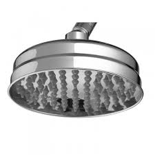 butler rose elizabeth 165mm traditional easy clean fixed shower head with swivel joint