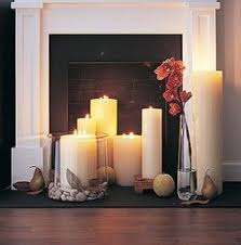 Home Decor & Accents Candles-pretty diy fireplace