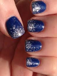 Blue And Silver Toe Nail Designs