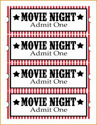 Printable Movie Ticket Template 24 movie ticket template cashier resume 1