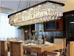 linear chandelier dining room. Bright And Modern Linear Chandelier Dining Room 9 I