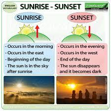 Sunrise Vs Sunset Woodward English