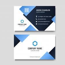 Modern Blue Business Card Background Vector Premium Download