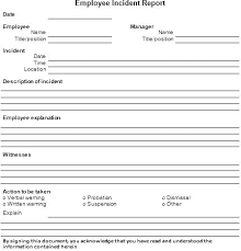 Child Care Incident Report Example Employee Accident Report Template Medpages Co