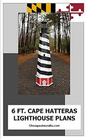 The plan for the lighthouse with the sailor and scrollsaw pattern is intended for a wood carving project. Amazon Com Cape Hatteras Lawn Lighthouse Plans Illustrated Woodworking Plans With Photos Ebook M John Kindle Store