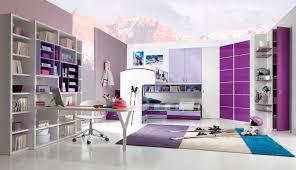 fantastic interior ideas of spacious bedroom for teenage girls with space saving furniture inspiring arrangement featuring stylish white and purple wooden bedroom furniture bedroom interior fantastic cool