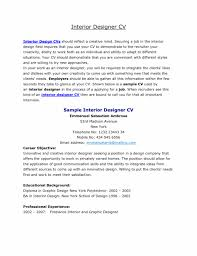 Sample Resume Of Interior Designer For Study Design Examples