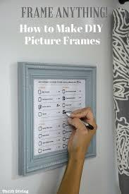 diy cardboard mirror frame how to make your own diy picture frames without power tools