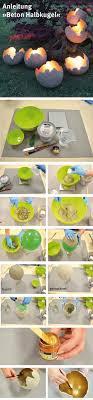 diy cement garden sculptures as luminaries planters decorative objects