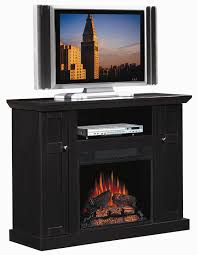 black ash electric fireplace tv stand