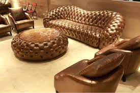 chesterfield high back sofa leather