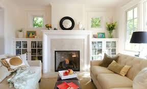 Bookshelves Living Room Mesmerizing Furnitures Living Room With Modern Fireplace And Small Bookcase